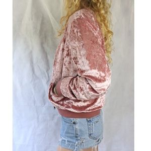 NWT Cloud Chaser Crushed Velvet Velour Sweatshirt